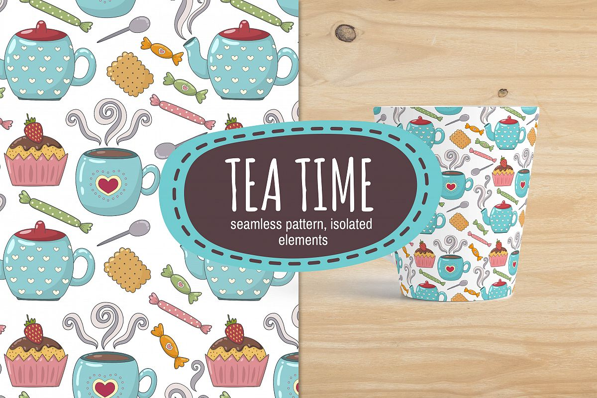 Tea Time: pattern & elements example image