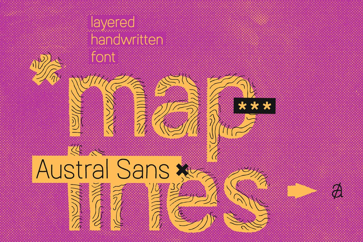 Austral Sans Maplines example image