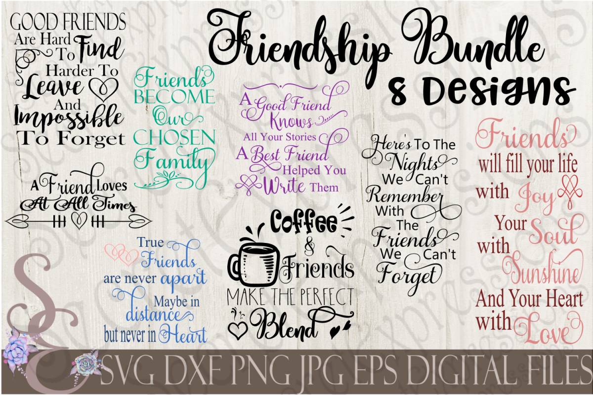 Friends And Friendship SVG Bundle Example Image