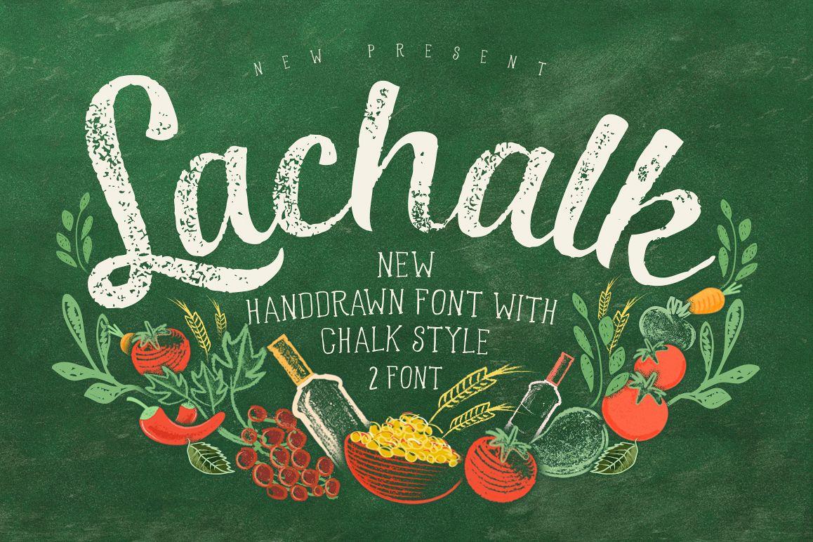 LaChalk Typeface + Extras example image