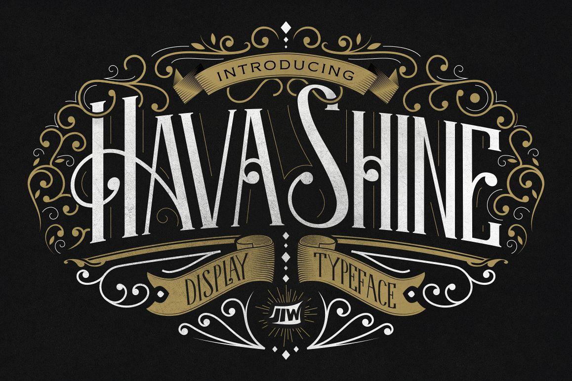 Hava Shine Typeface example image