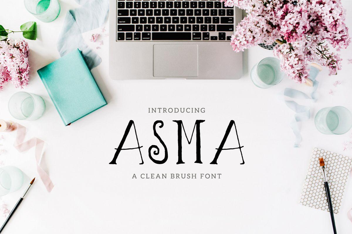 Asma Brush Font example image