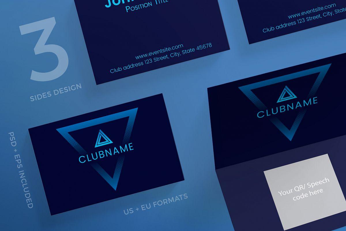 Music Club Business Card Design Templat   Design Bundles