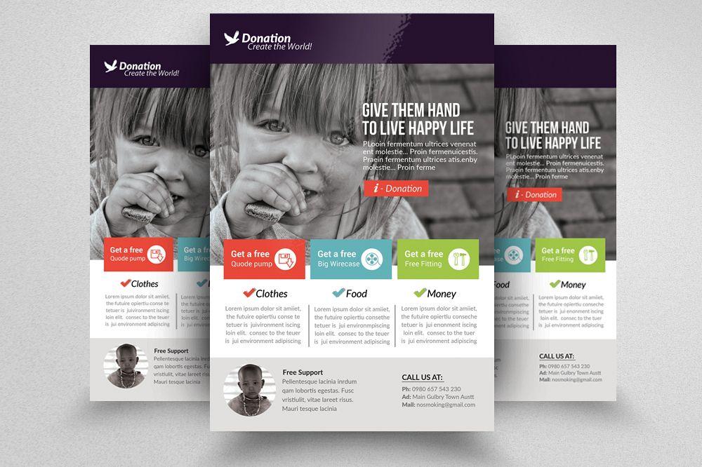 Charity Donation Flyer Templates By D Design Bundles