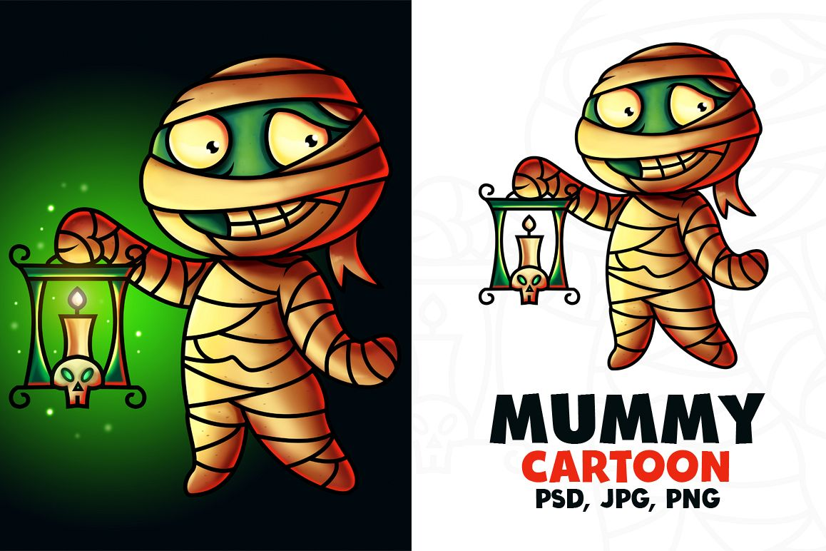 Mummy Cartoon Character - Digital Painting example image