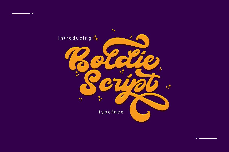 Boldie Script Typeface example image