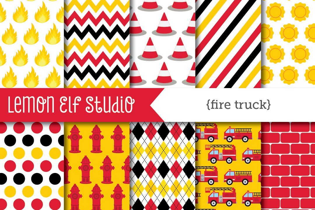 Fire Truck-Digital Paper (LES.DP50) example image