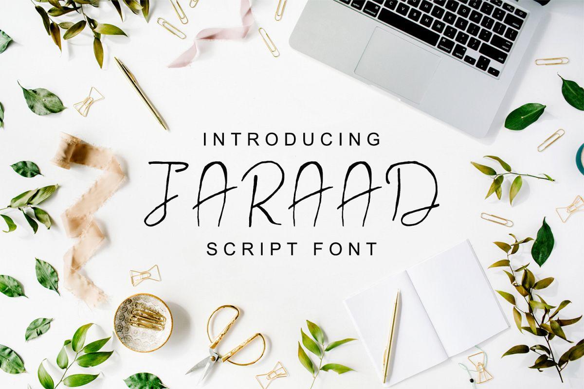 Jaraad Script Typeface example image