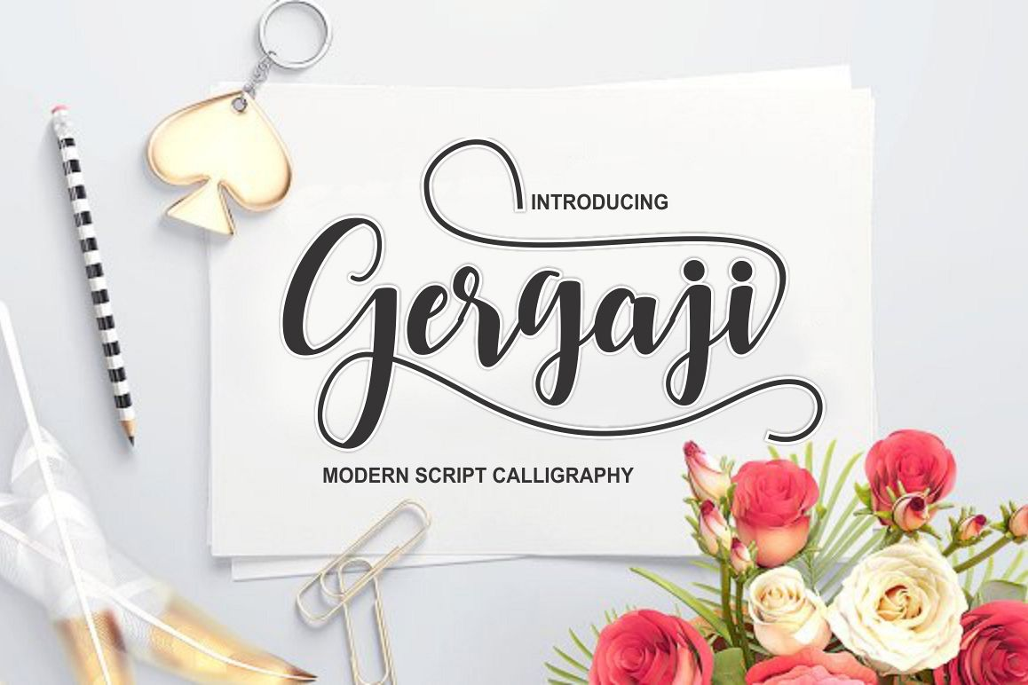 gergaji script font example image