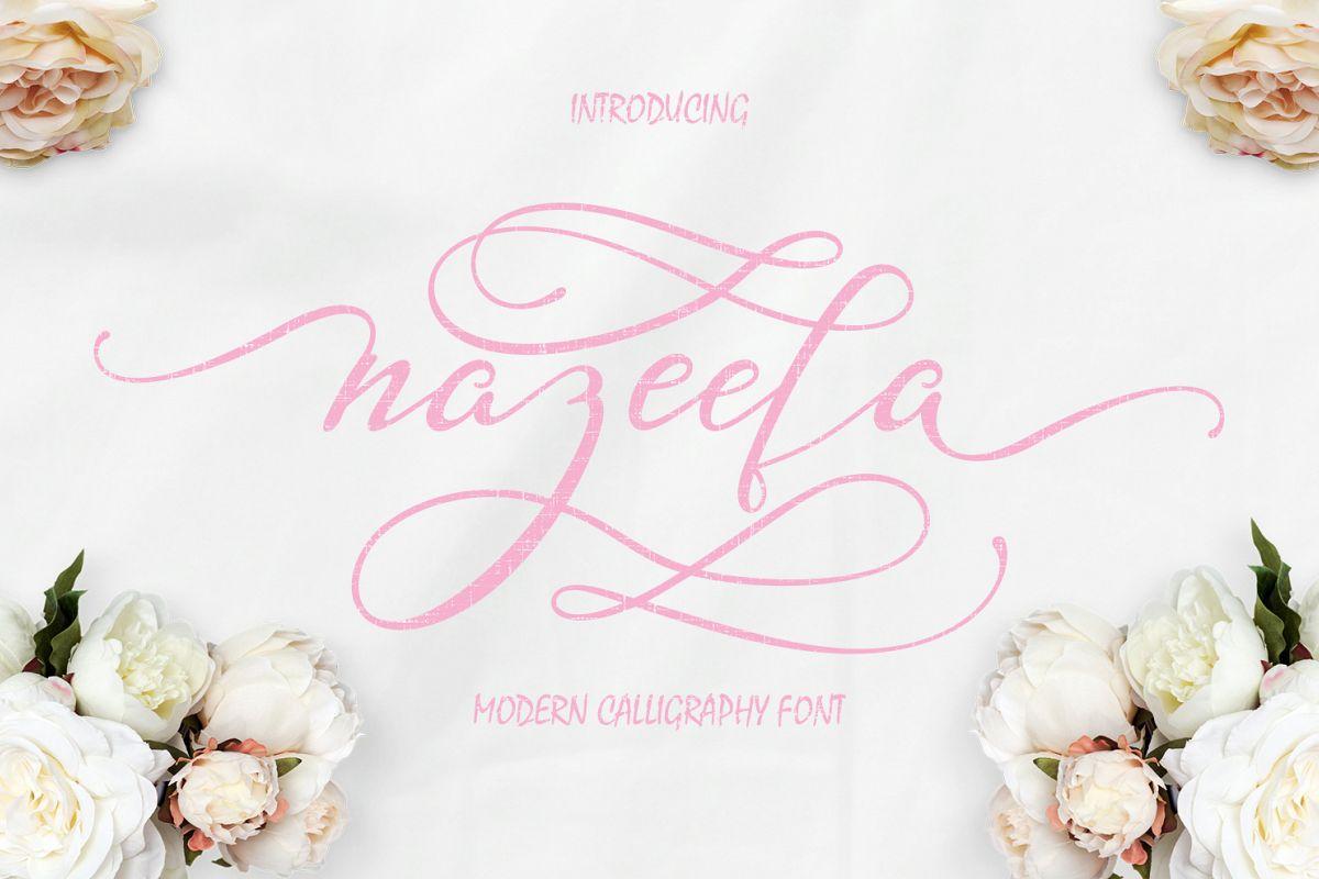 Nazeefa Script Font ( February Sale ) example image