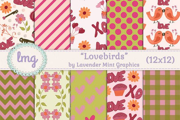 Lovebirds Valentines Day Backgrounds example image