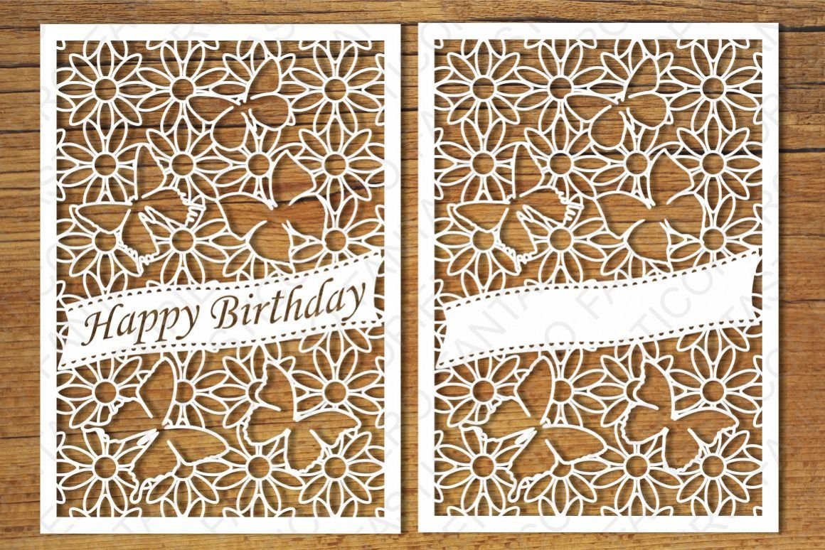 Greeting Cards And Happy Birthday SVG Files For Silhouette Cameo Cricut Clipart PNG
