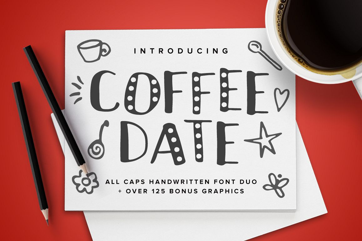 Coffee Date Font example image