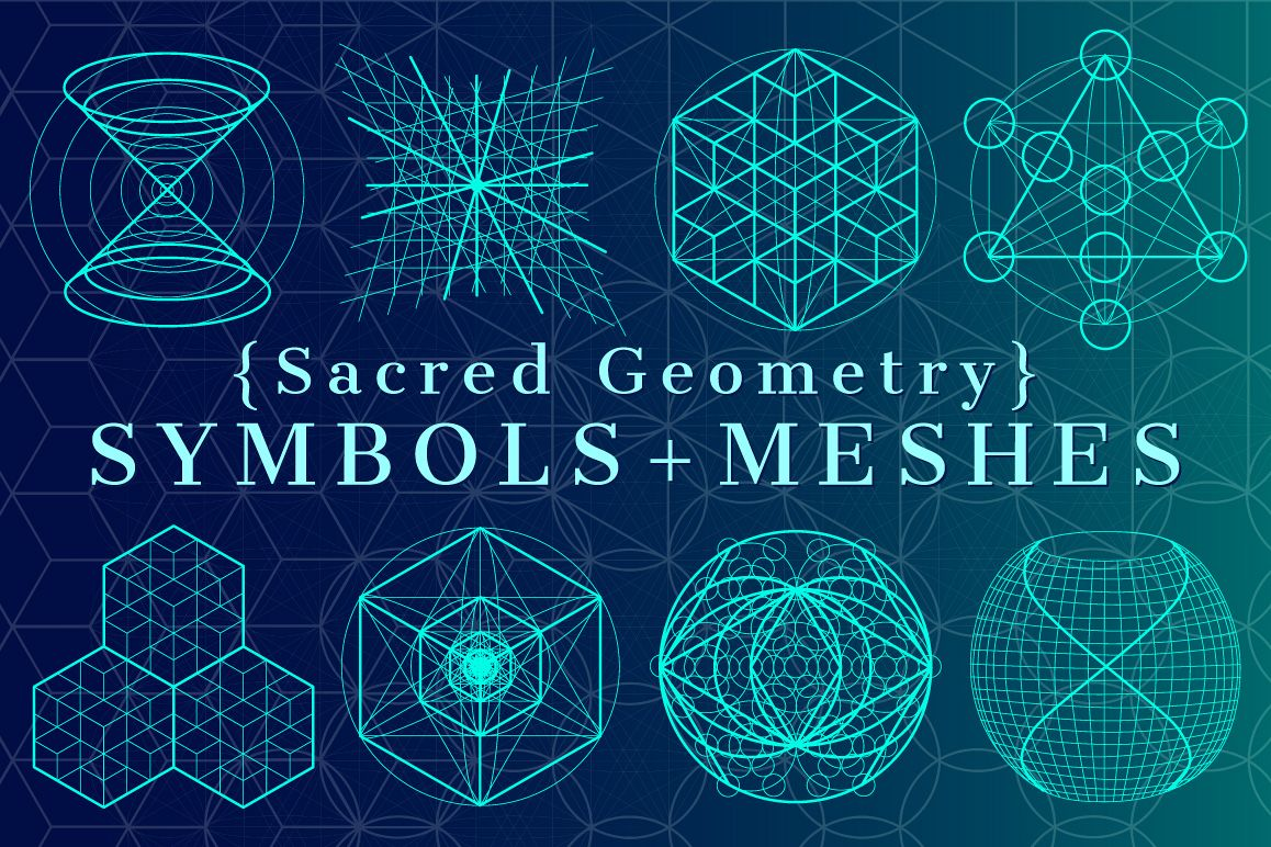 sacred geometry symbols meshes by e design bundles