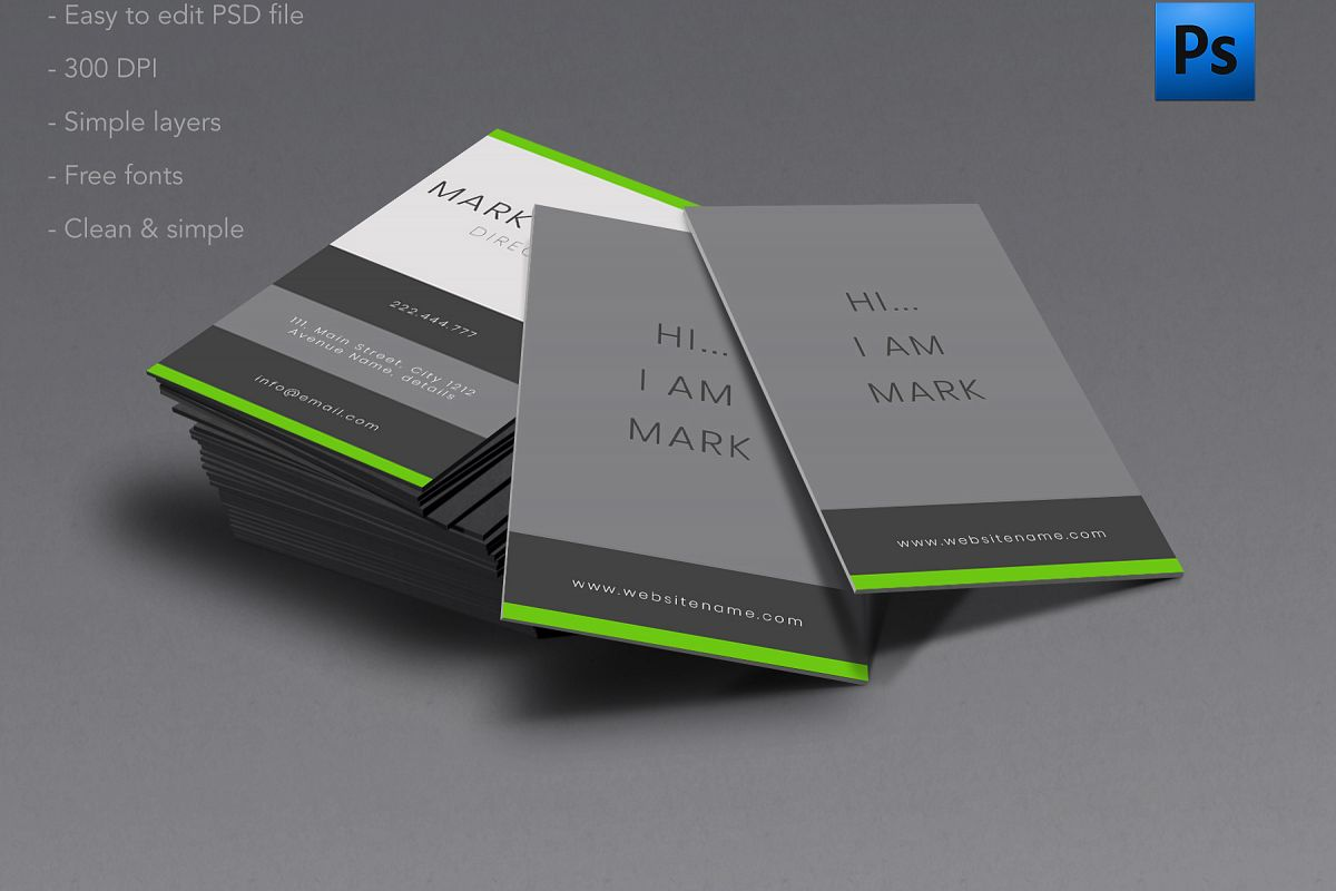 Clean and Simple business card by Creat | Design Bundles