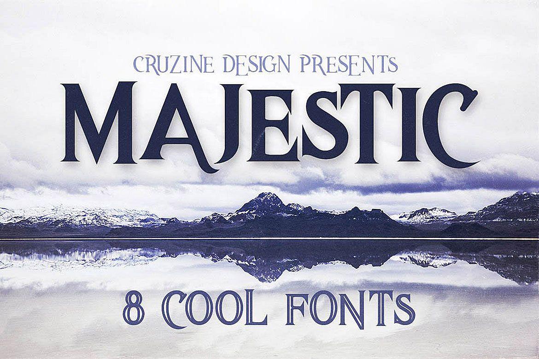 Majestic Typeface example image