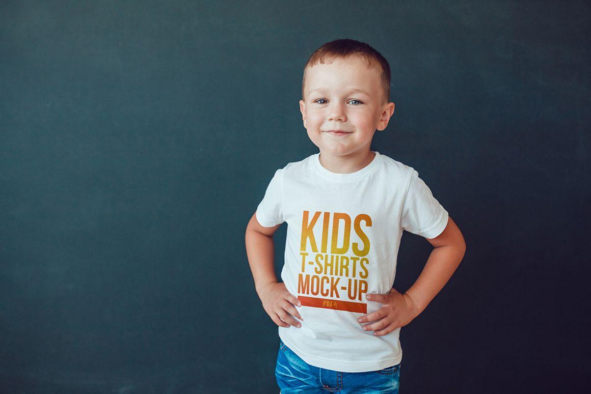 Kids T-Shirt Mock-Up Vol. 4 example image 3