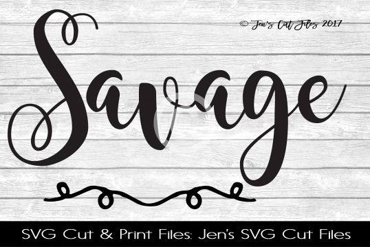 Savage SVG Cut File example image