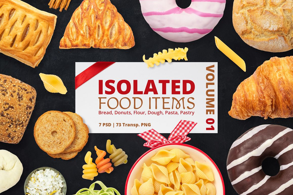 Isolated Food Items Vol.1 example image