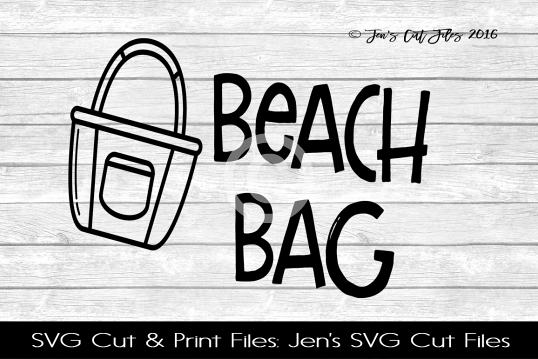 Beach Bag SVG Cut File example image