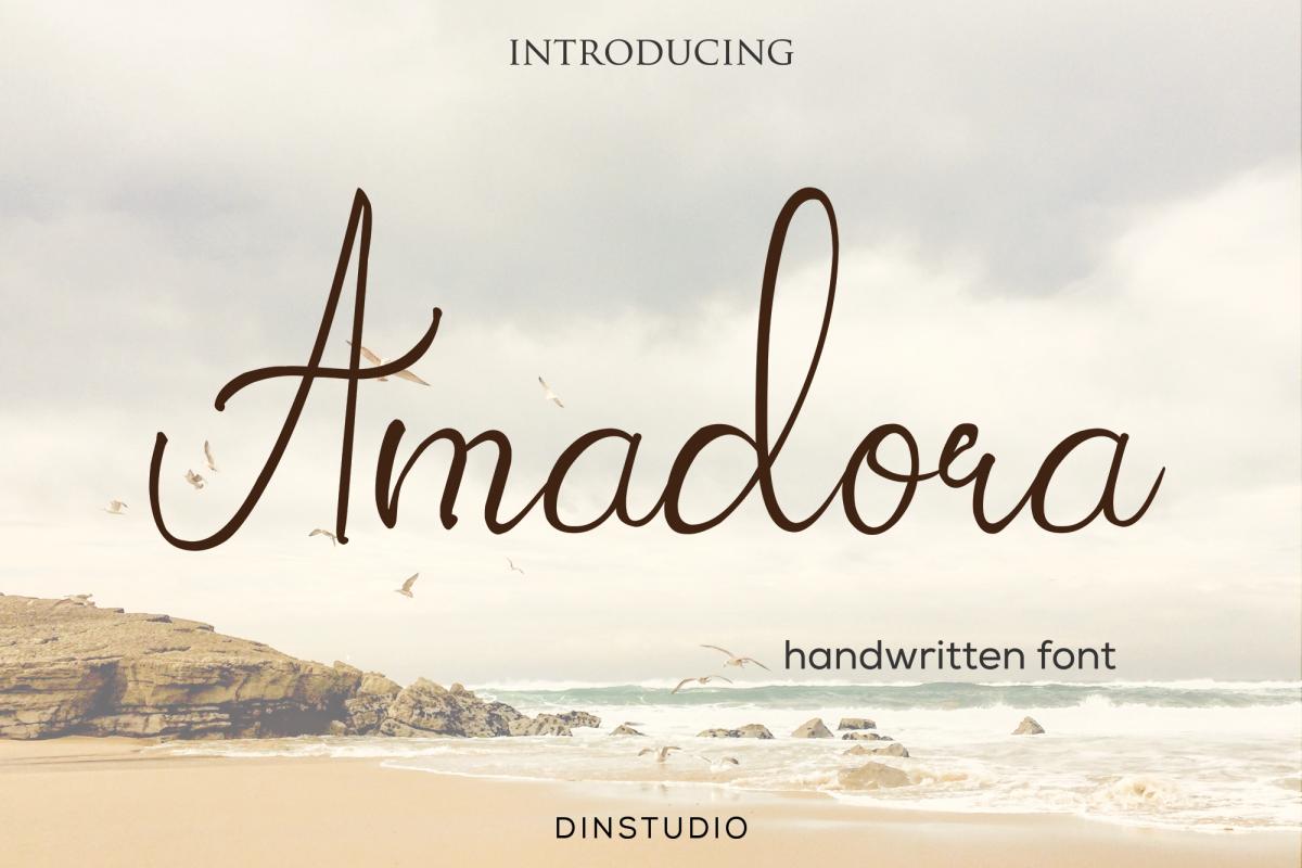 Amadora font example image