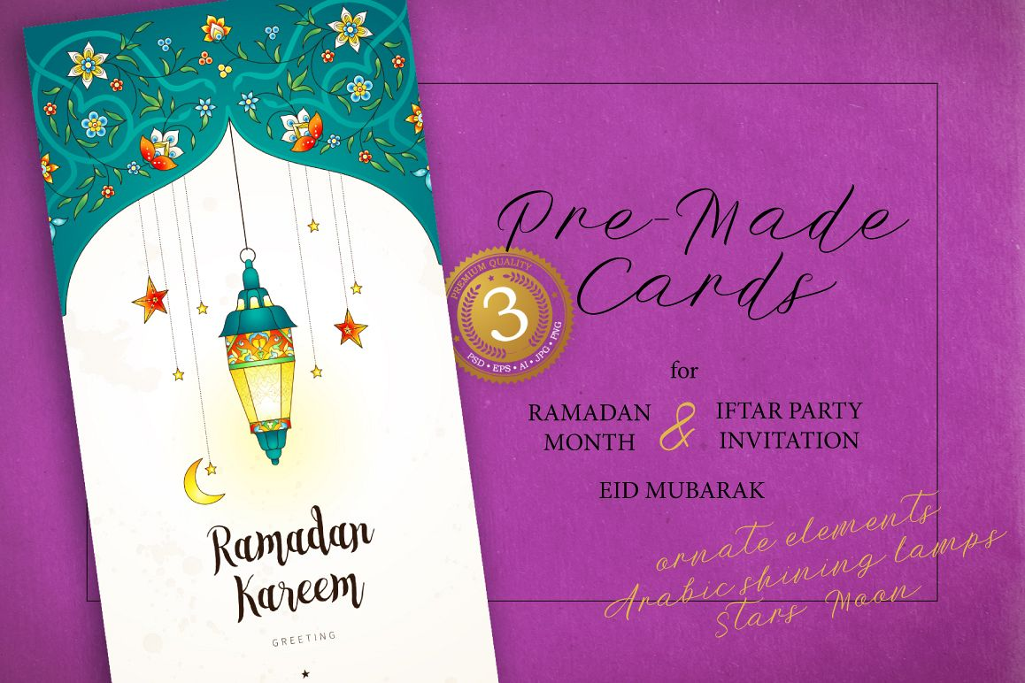 2 set of ramadan pre made cards by og design bundles set of ramadan pre made cards example image stopboris Image collections