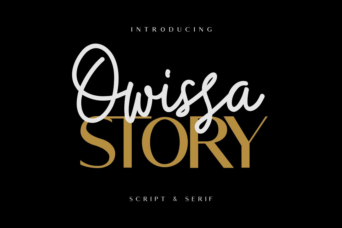 Owissa Story - Font Duo example image