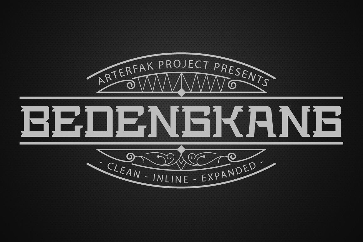 Bedengkang Typeface example image