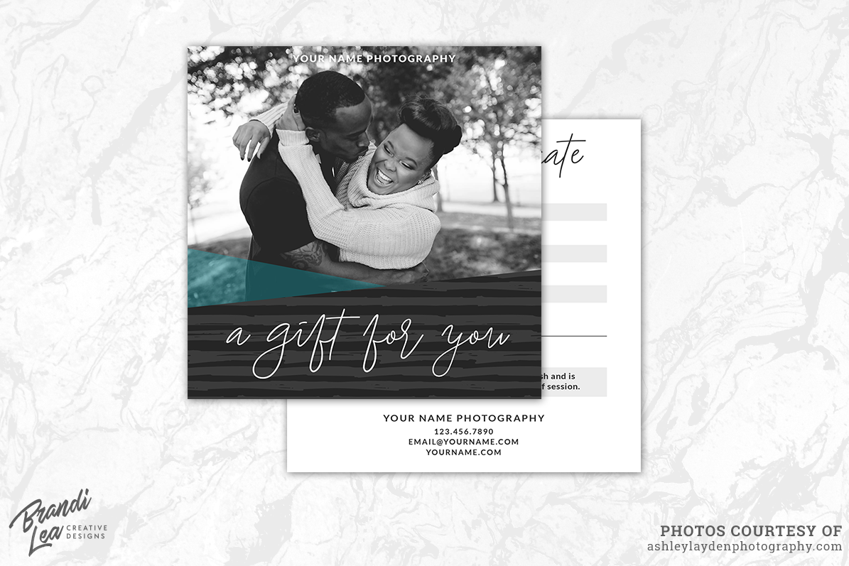 photography gift certificate template example image