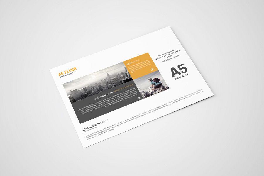 a5 landscape flyer mockup example image