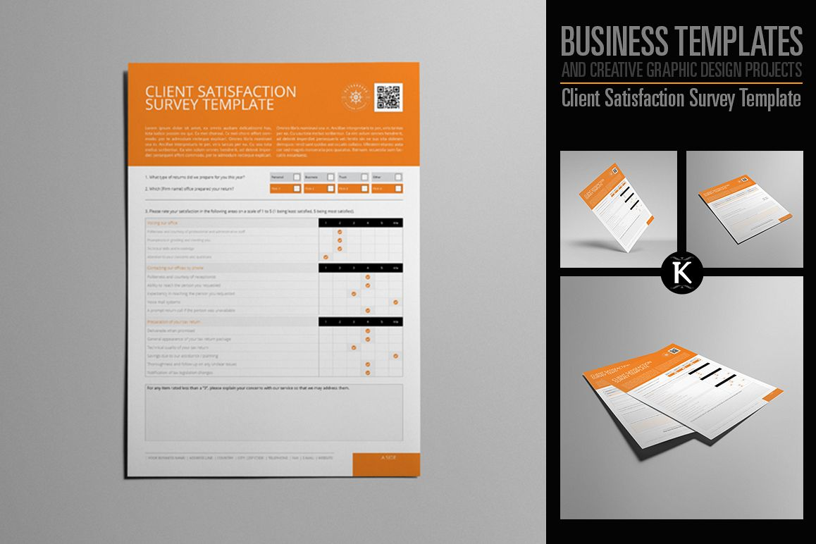 Client Satisfaction Survey Template by | Design Bundles