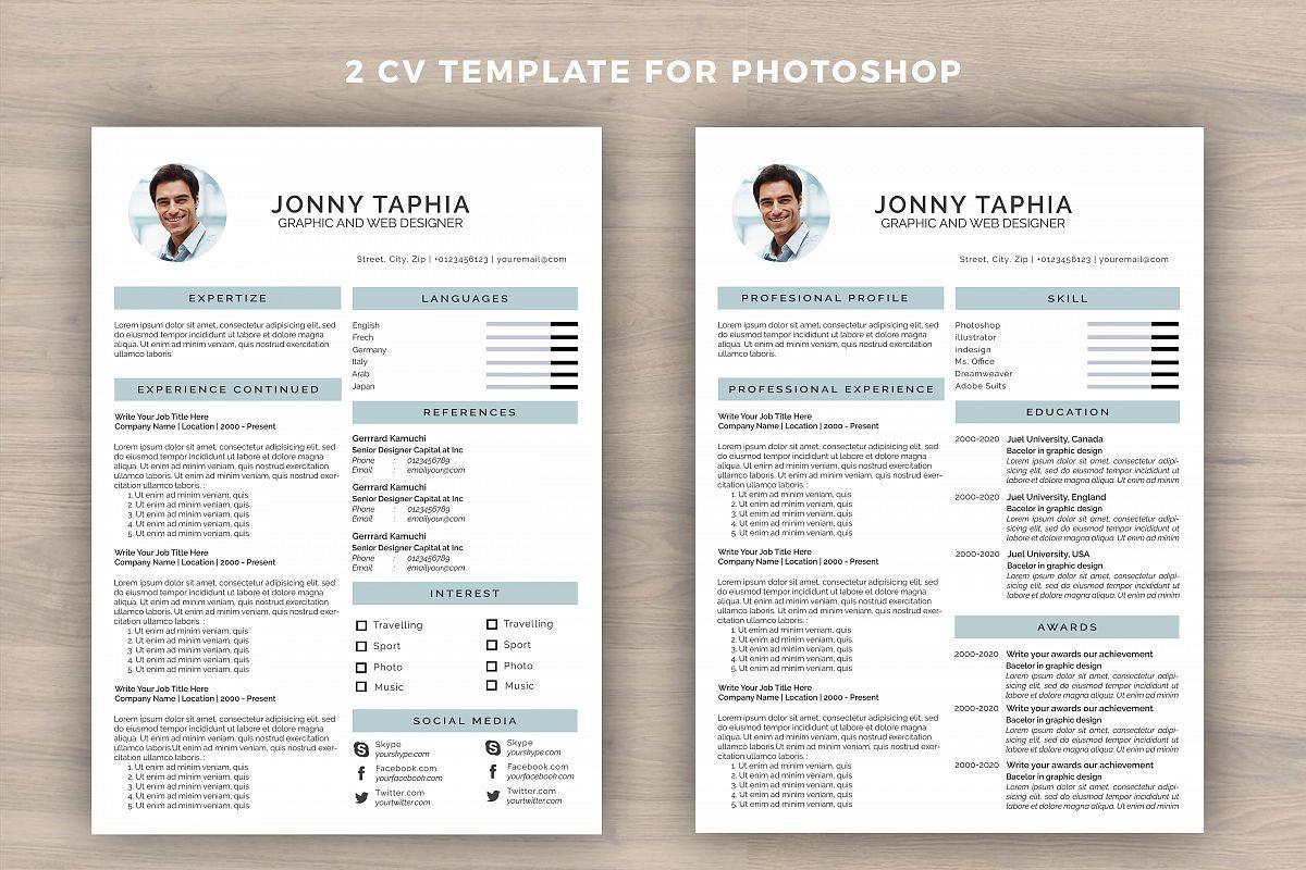 photoshop resume template - Leon.escapers.co