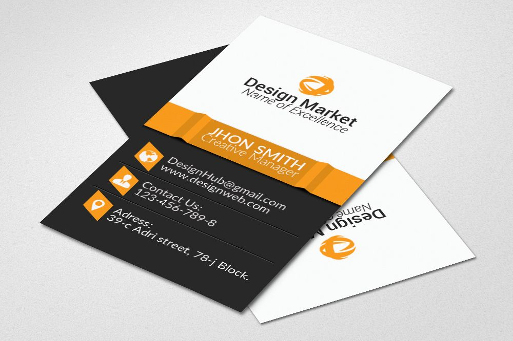 Vertical business cards psd templates b design bundles vertical business cards psd templates example image reheart Gallery