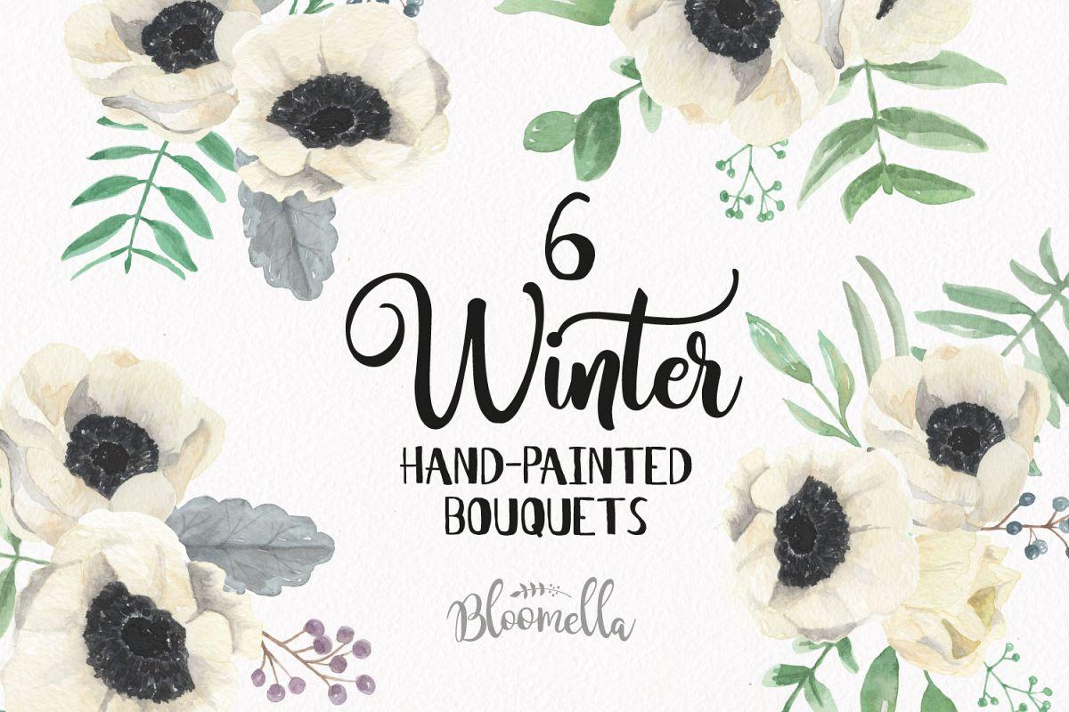 Watercolor Winter Christmas Clipart Bou | Design Bundles