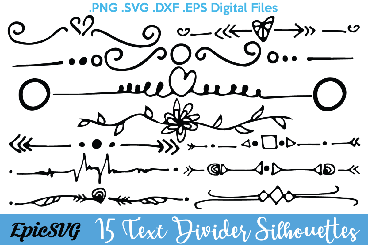 15 text dividers svg dxf eps tex design bundles free wedding vector design free wedding vector icons