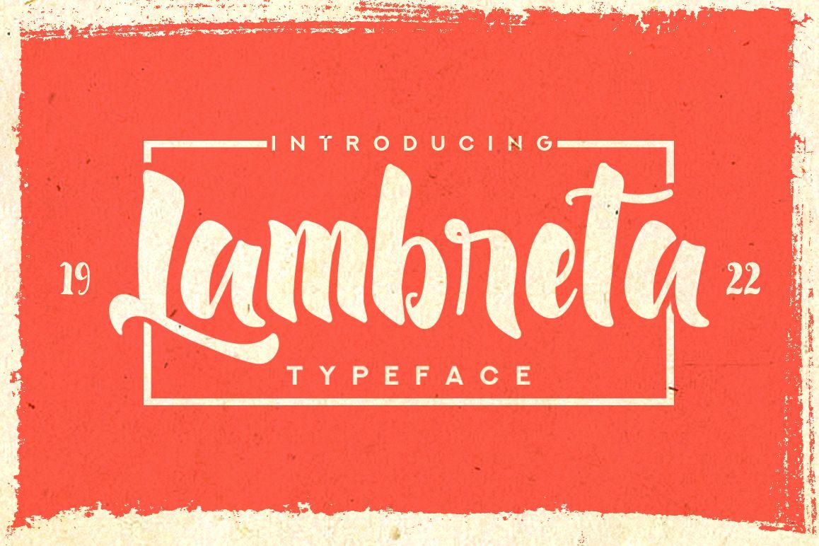 Lambreta Typeface example image