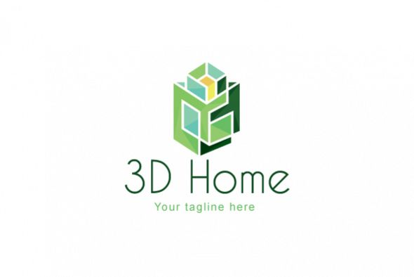 Beautiful Viewing Product. 3D Home   Architect Logo Design Template For Interior U0026  Exterior Services