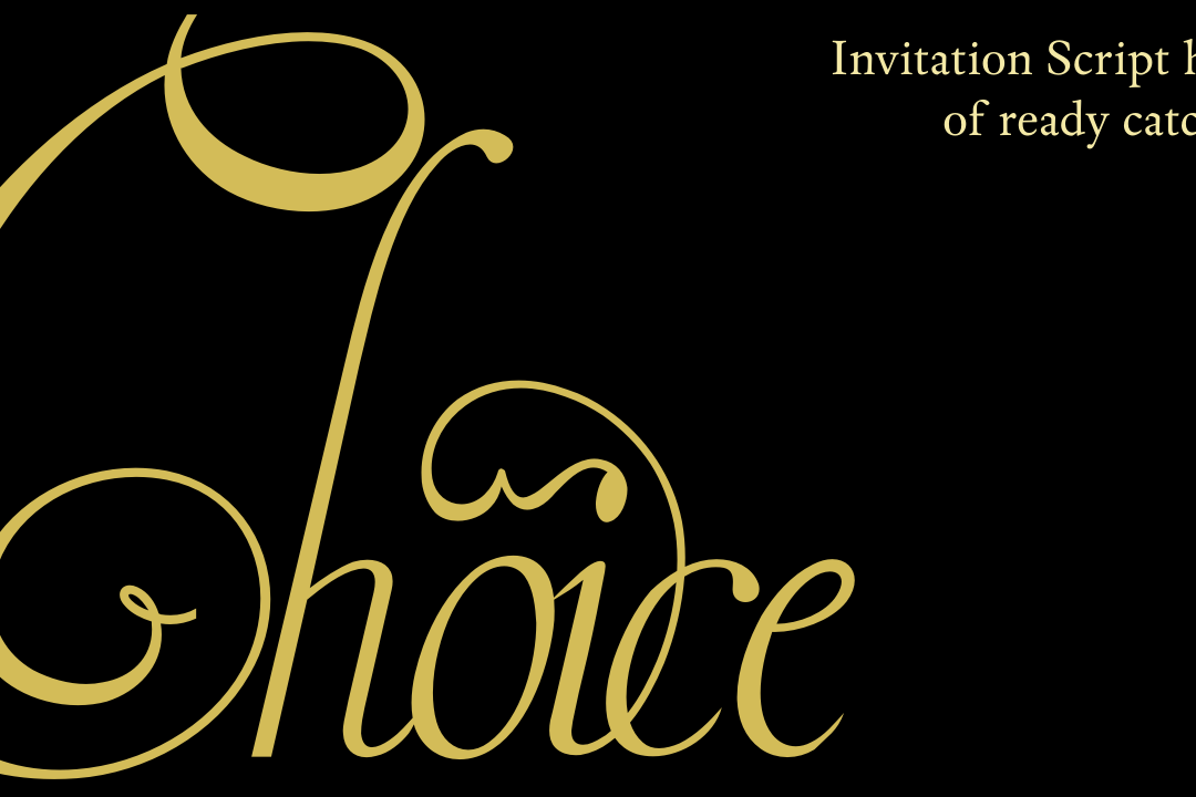 Invitation Script Pack (4 fonts) example image 2