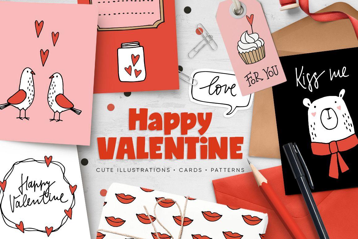 Happy Valentine graphic set example image