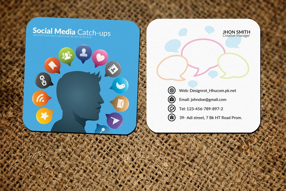 Social Media Small Business Cards by De | Design Bundles