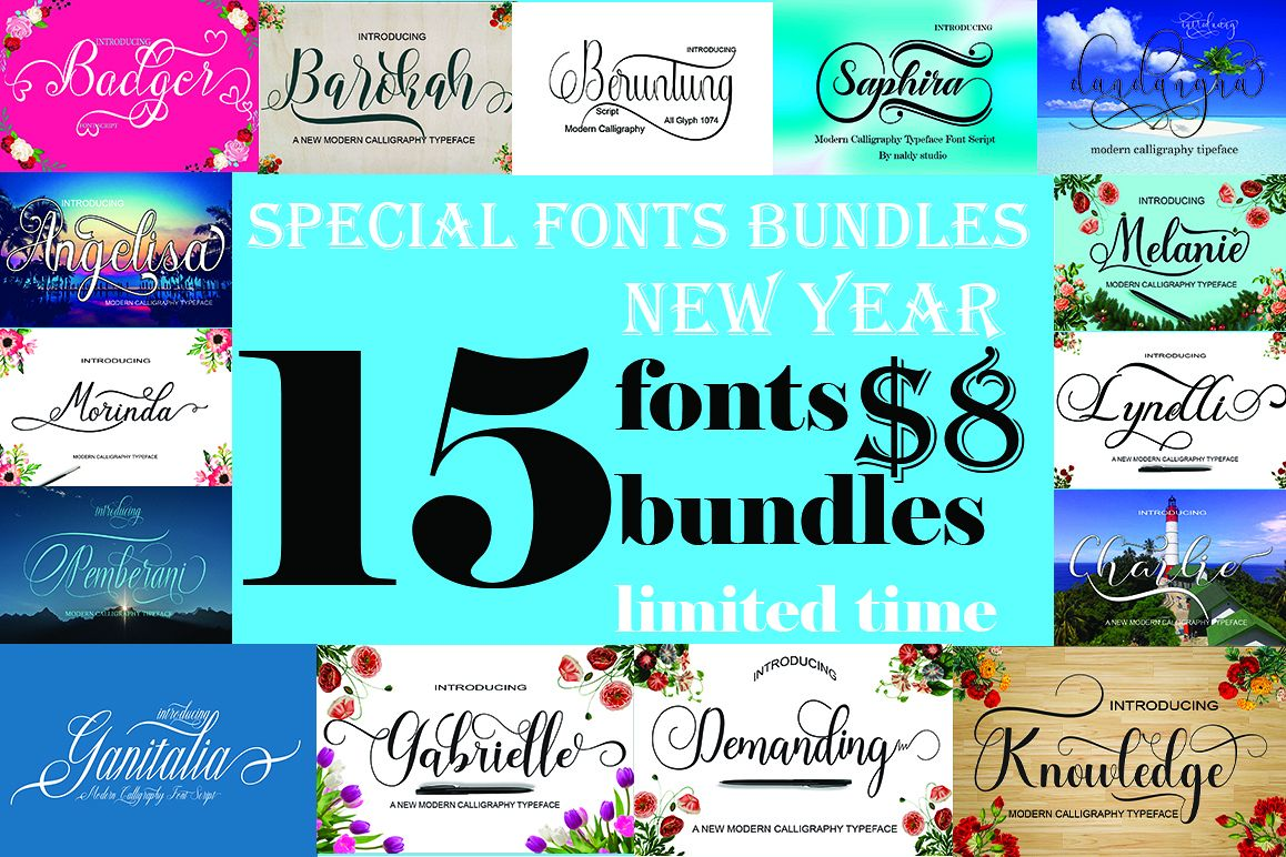 SPECIAL FONTS BUNDLES example image