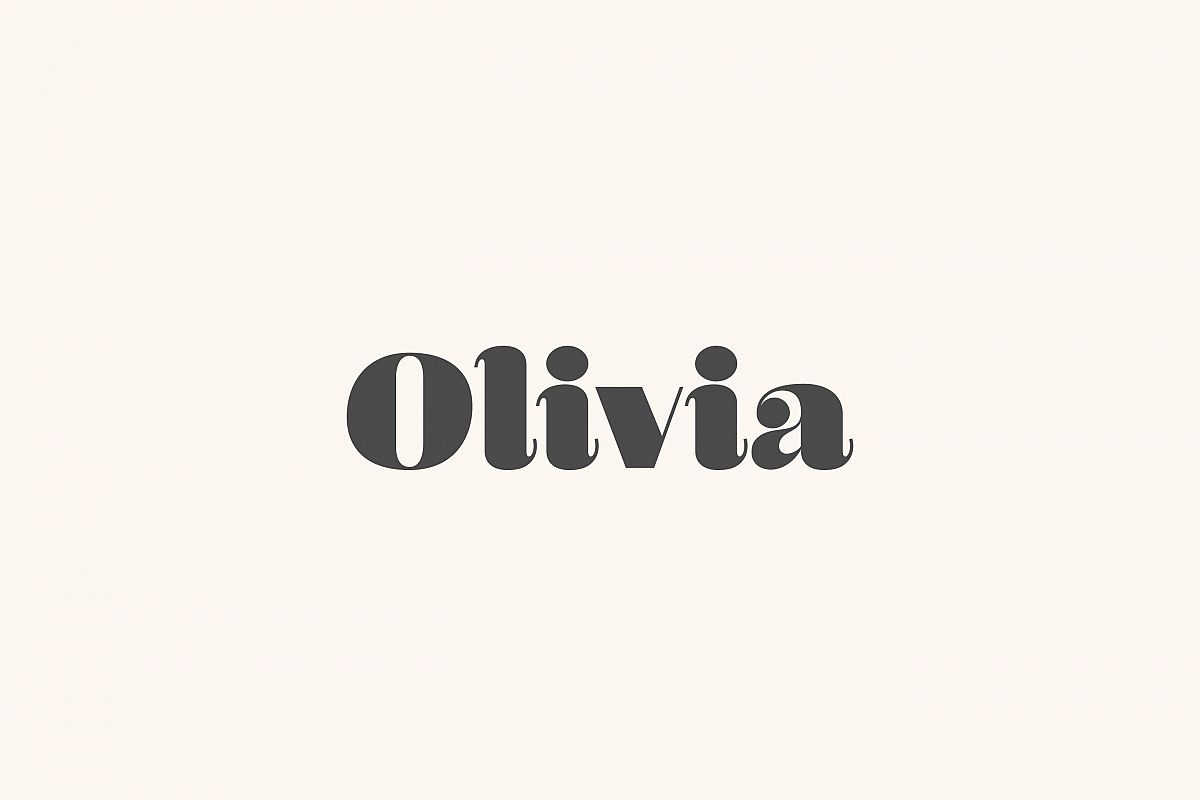 olivia a curvy typeface example image