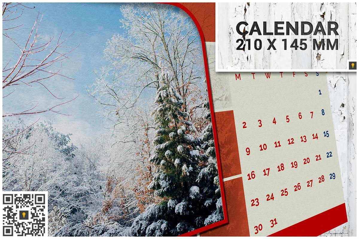 2017 Desktop Calendar example image