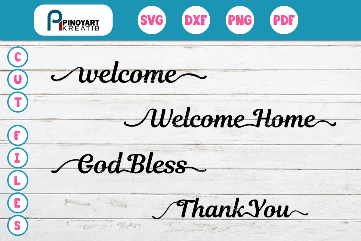 Home Greetings Svg Bundle By Pinoyart Design Bundles