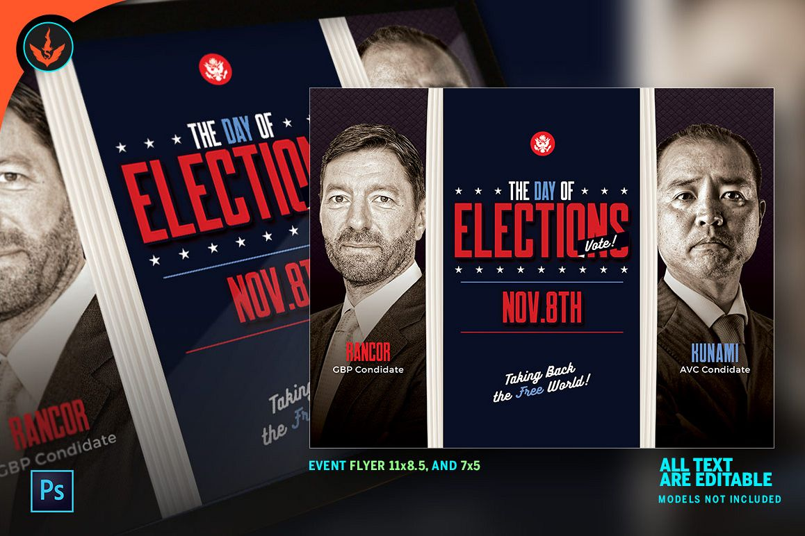 Election flyer photoshop template by se design bundles election flyer photoshop template example image saigontimesfo