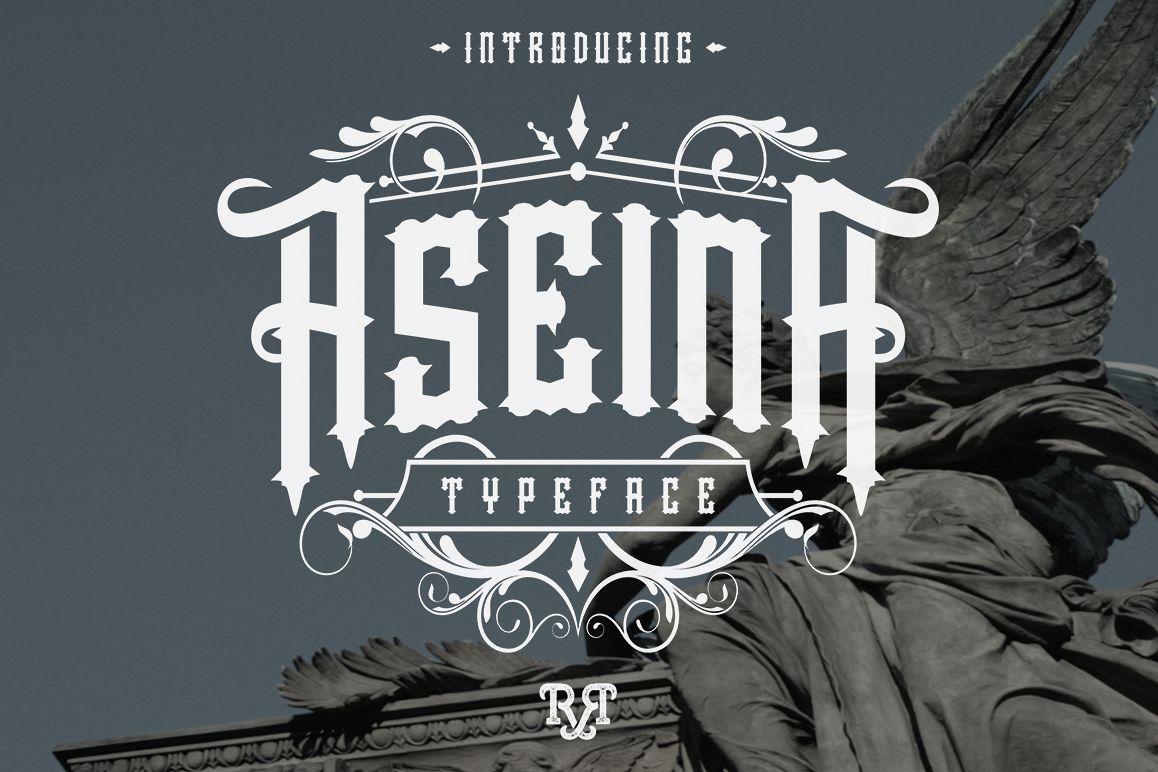 Aseina typeface example image
