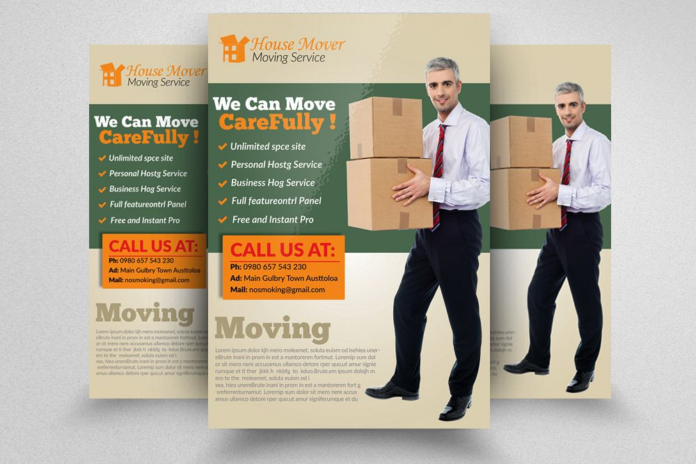 Moving House Flyers Template By Designh Design Bundles