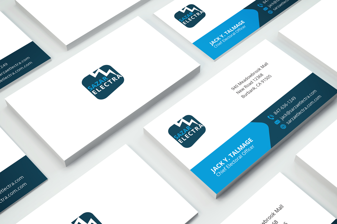 Clean Corporate Business Card by Fancy | Design Bundles