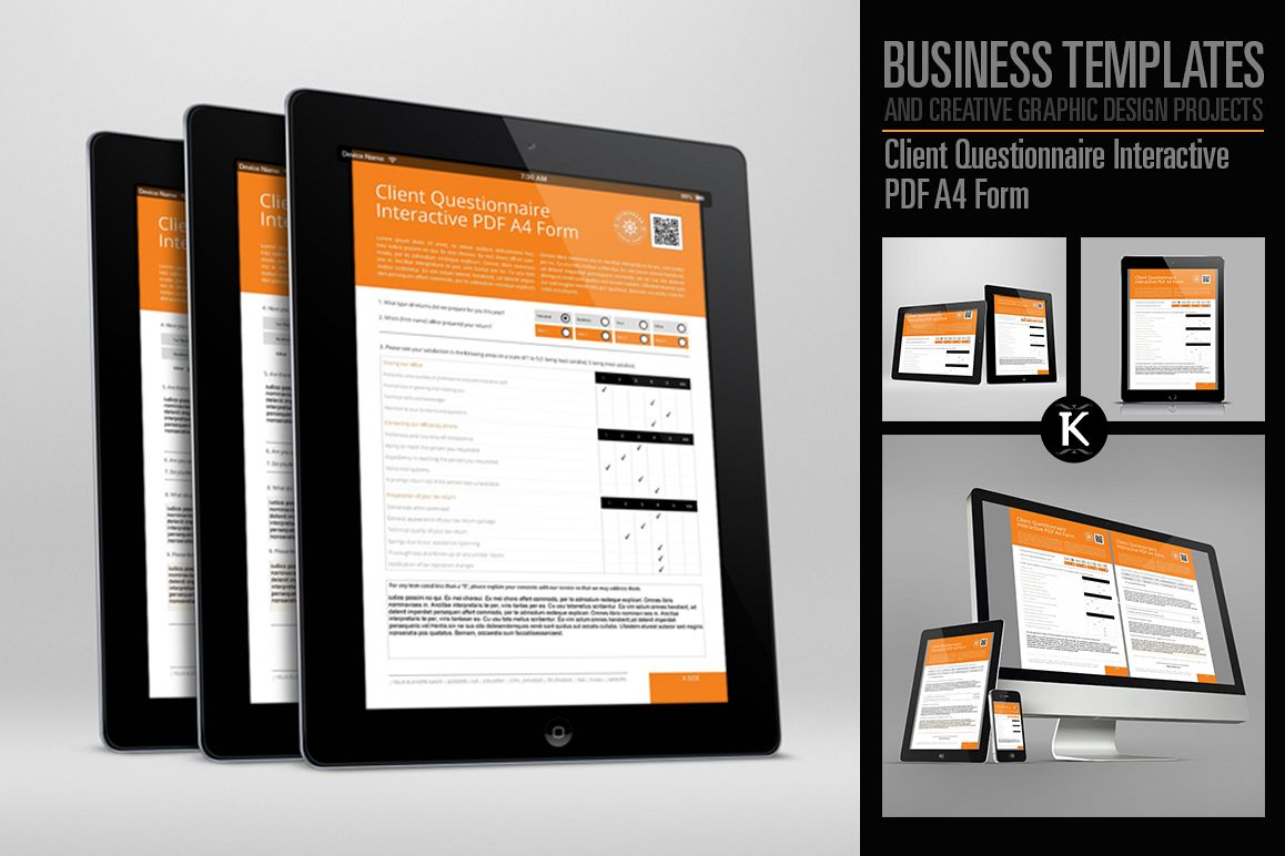 Client Questionnaire Interactive Pdf A4 Design Bundles