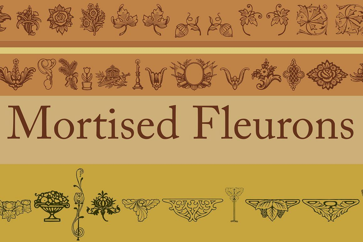 Mortised Fleurons example image